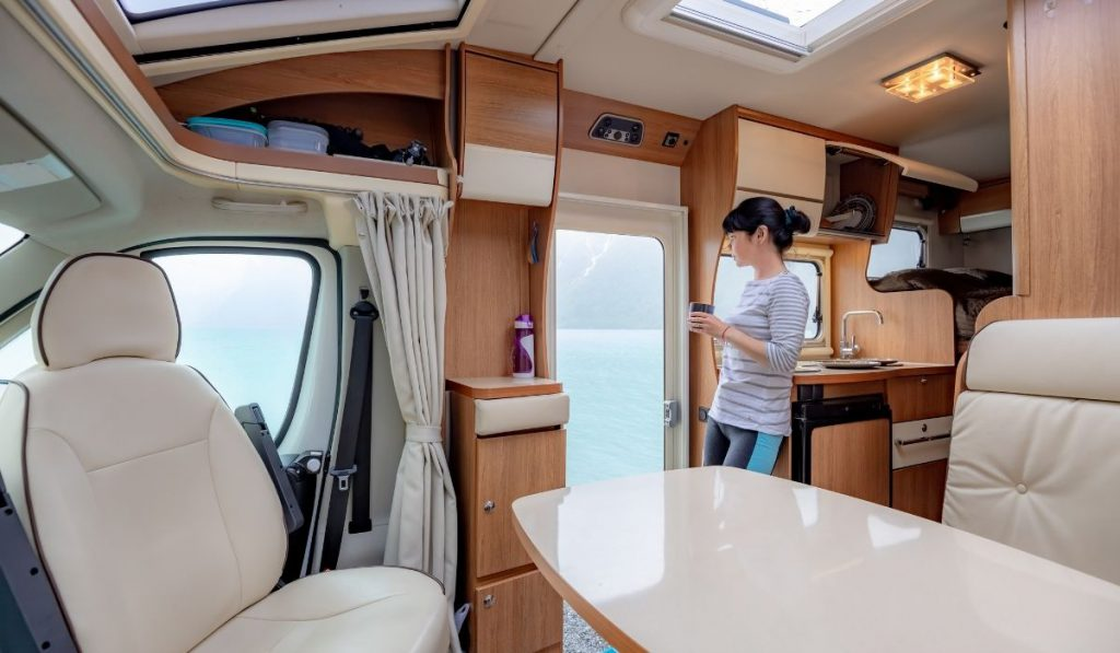 interior of RV