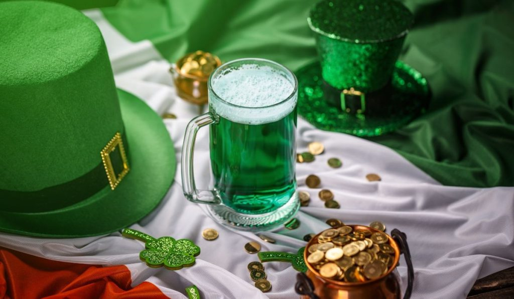 Green hat and gold coins - St. Patrick's Day