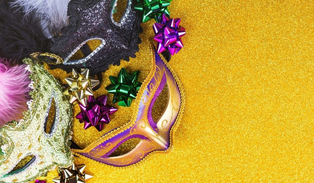 colcrful masks for the mardi gras party